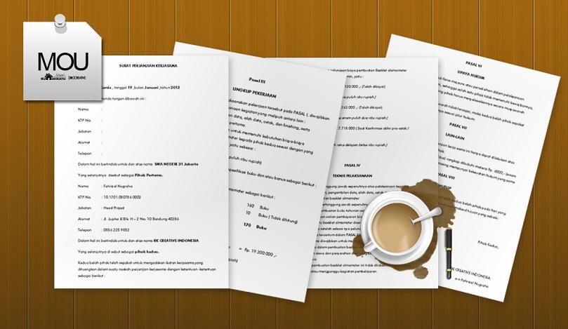 Sharing: MOU / Surat Perjanjian Kerjasama Buku Tahunan Sekolah