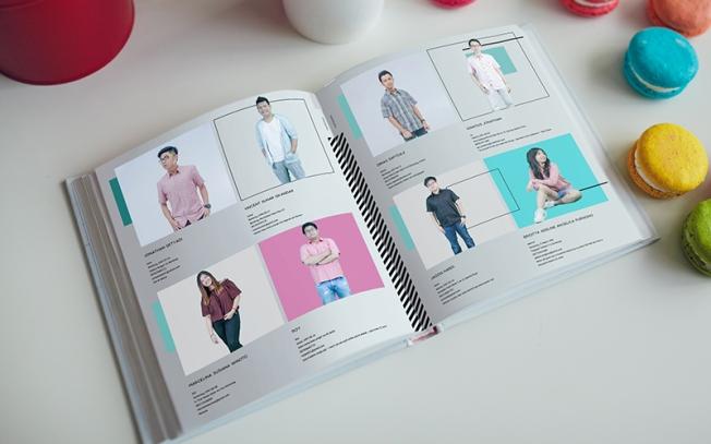 design isi dan biodata pada buku tahunan sekolah
