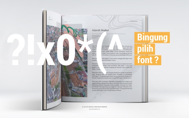 kombinasi font yang cocok untuk design buku tahunan sekolah