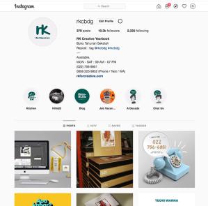 sample buku tahunan produk dan design dari RK Creative bandung